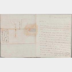 Webster, Daniel (1782-1852) Autograph Letter Signed, 24 April 1823; [and] Autograph Note Signed, 5 October 1846.