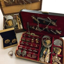 Large Group of Gentleman's Jewelry and Accessories