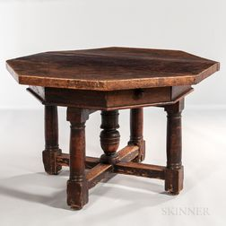 Italian Walnut Center Table