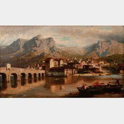 Ercole Calvi (Italian, 1824-1900)      Ponte di Pescarenico