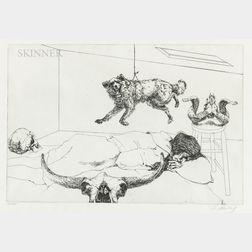 Two Prints:      Sigmund Abeles (American, b. 1934), Dreams