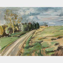 John Hansegger (American, 1908-1989)      Landscape with Open Fields