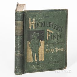 Twain, Mark (1835-1910), Huckleberry Finn.