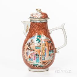 Chinese Export Porcelain Pitcher and Cover