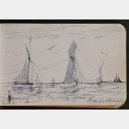 (Autograph/Sketchbook, Salem, Massachusetts), Benson, Frank Weston (1862-1951)