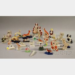 Thirty-two Mostly Staffordshire Animals and Figures