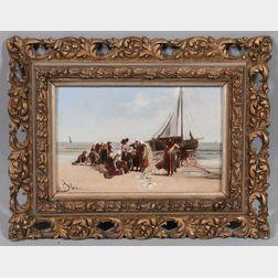 After Bernardus Johannes Blommers (Dutch, 1845-1914)      Fisherwomen on the Beach