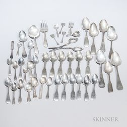 Group of Assorted Sterling Silver and Coin Silver Flatware