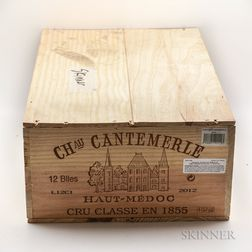 Chateau Cantemerle 2012, 12 bottles (owc)