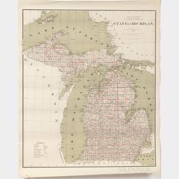 Midwestern States, Nine General Land Office State and Territory Maps.