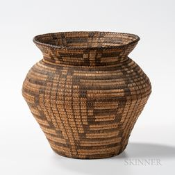 Pima Basketry Storage Jar