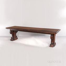 Massive Renaissance-style Walnut Library Table