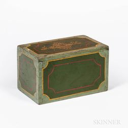Green Paint-decorated Wooden Bank