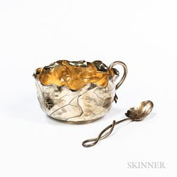 George Shiebler Sterling Silver-gilt Child's Bowl and Spoon
