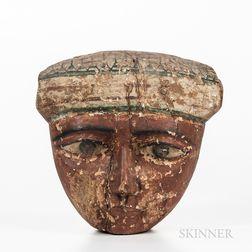 Large Polychrome Wood Mask