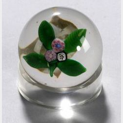 Floral Bouquet Miniature Glass Paperweight