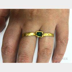 Gold and Emerald Double-finger Ring