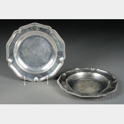 Pair of William IV Silver Chargers