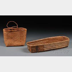 Two Northwest Coast Basketry Items