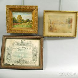 Three Framed Items