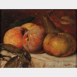Franz Molitor (German, 1857-1929)    Still Life with Fruit