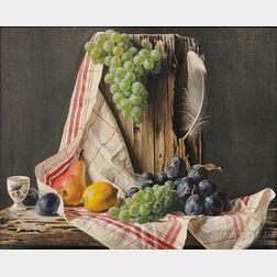 Lodewijk Karel Bruckman (Dutch/American, 1913-1980)      Still Life with Fruit