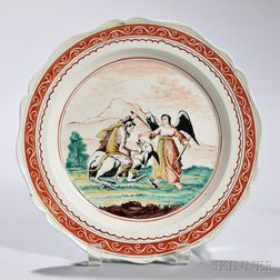 Turner Creamware Obedience   Plate