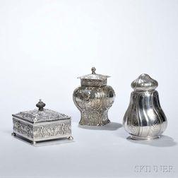 Three Pieces of German .800 Silver Tableware