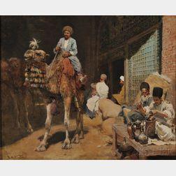Edwin Lord Weeks (American, 1849-1903)      Market in Ispahan