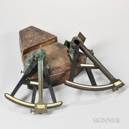 Two 19th Century New York 12-inch Ebony Octants