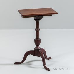 Red-painted Candlestand with Drawer