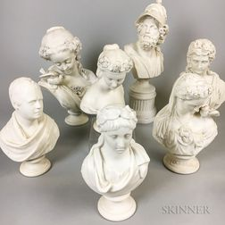 Seven Parian Busts