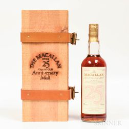 Macallan Anniversary Malt 25 Years Old, 1 750ml bottle (owc)