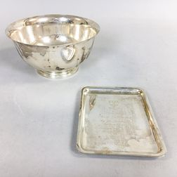Two Tiffany & Co. Sterling Silver Commemorative Pieces