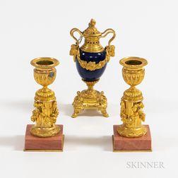 Three Pieces of Gilt-bronze Tableware