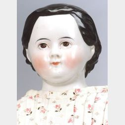 Brown-eyed China Shoulder Head Doll