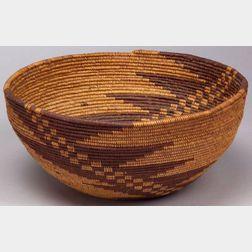 California Coiled Basketry Bowl