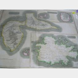 Kirkwood & Son Hand-colored Lithograph Map of West India Islands