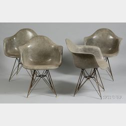 Four Charles and Ray Eames Eiffel Chairs