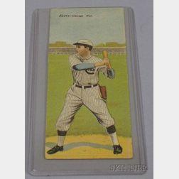 1911 T201 Mecca Cigarettes Double Folder No. 9, Frank Chance/John Evers Baseball Card.