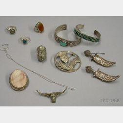 Assorted Mostly Silver Jewelry
