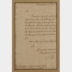 Pitt, William, 1st Earl of Chatham (1708-1778) Letter Signed, 16 October 1758.