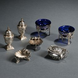 Seven Pieces of Victorian Sterling Silver Hollowware