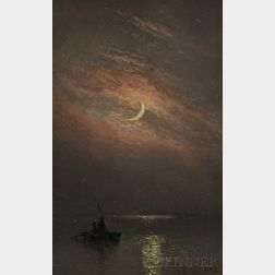 Charles Henry Gifford (American, 1839-1904)      Under a Crescent Moon