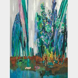 Walter Feldman (American, b. 1925)      The Blue Garden