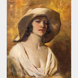Julius Rolshoven (American, 1858-1930)      The Etruscan Girl