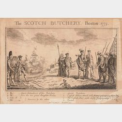 The Scotch Butchery, Boston, 1775.