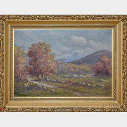 C. Myron Clark (Massachusetts, 1858-1925)       Autumn Landscape