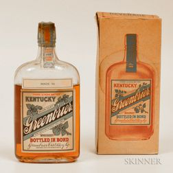 Kentucky Greenbrier 11 Years Old 1913, 1 pint bottle (oc)
