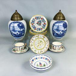 Eleven Pieces of Continental Ceramics